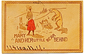 Antique Leather Postcard 1906 (Image1)