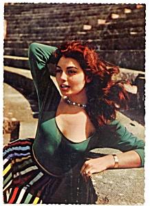 Rosanna Schiaffino celebrity vintage postcard set (Image1)