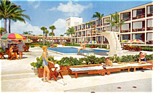 Post Card Pan American Motel Miami Florida (Image1)