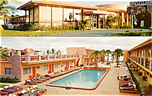 Post Card Sun Ranch Motel Miami Beach Florida (Image1)