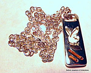 Playboy bunny vintage pendant and chain (Image1)