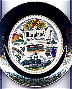 Maryland Old Line State Plate Mid Century (Image1)