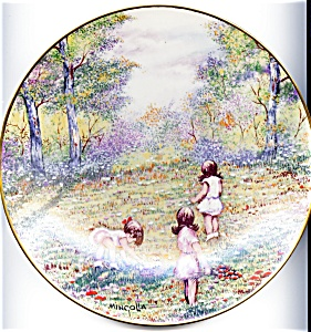Dominic Mingolla collector plate 'Picking Flowers' 1977 (Image1)