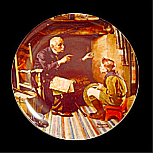 Norman Rockwell Plate 'the Veteran'