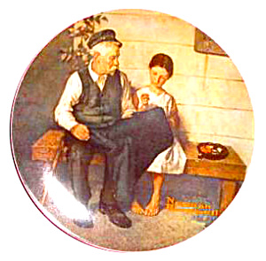 Rockwell Plate 'Lighthouse Keeper's Daughter' (Image1)
