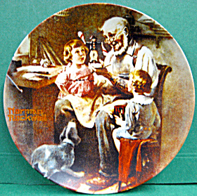 The Toy Maker Norman Rockwell Vintage Plate 1977