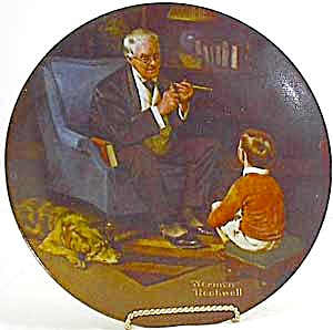 Norman Rockwell Plate 'The Tycoon' (Image1)