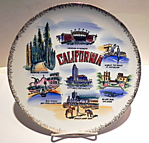 California state vintage collector plate (Image1)