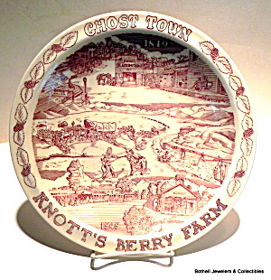 Knott's Berry Farm Ghost Town collector plate (Image1)