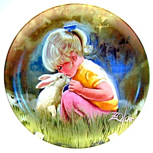 Tender Moments Donald Zolan Collector Plate 1984
