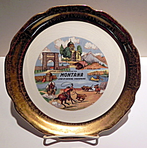 Montana state vintage collector plate (Image1)
