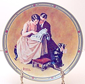 Norman Rockwell plate 'A Couple's Commitment' (Image1)