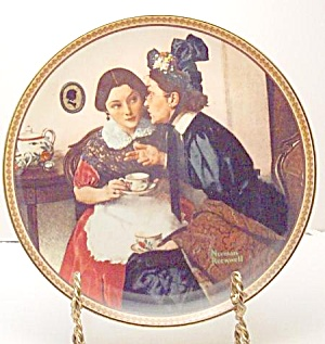 Norman Rockwell plate 'Gossiping in the Alcove' (Image1)