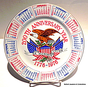 200th Anniversary Year collector plate 1776-1976  (Image1)