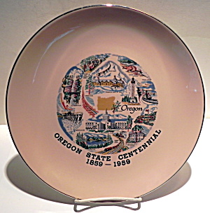 Vintage Oregon State Centennial collector plate 1959 (Image1)