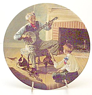 Norman Rockwell plate 'Banjo Player' 1989 (Image1)