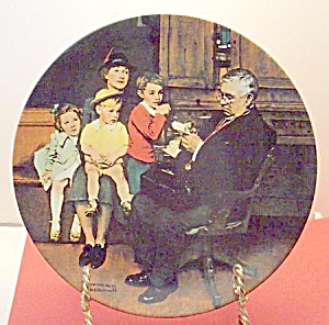Norman Rockwell plate 'The Family Doctor' 1992 (Image1)