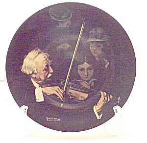 Vintage Rockwell Plate 'the Master Violinist' 1996