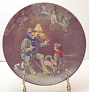 Norman Rockwell Plate 'the Old Scout' 1990