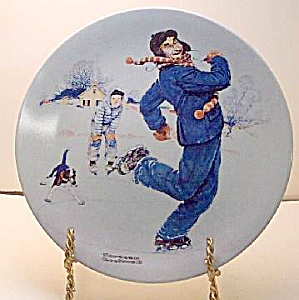 Norman Rockwell plate 'Ice Skating with Grandpa' 2004 (Image1)