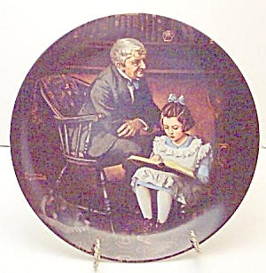 Norman Rockwell Plate 'the Young Scholar' 1991