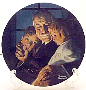 Norman Rockwell Plate 'bedtime Story' 2000