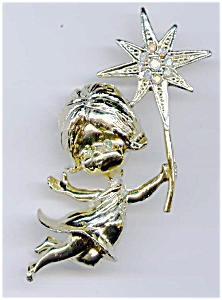 Christmas Angel Star pin brooch (Image1)