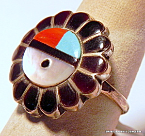 Vintage Zuni Native American Sterling Silver Ring