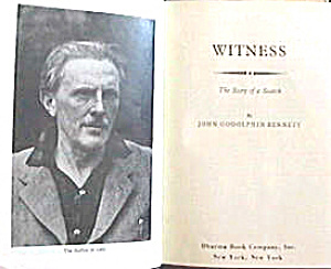 John Bennett 'witness The Story Of A Search'