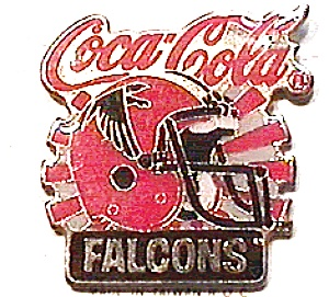 Falcons vintage Coca Cola football pin (Image1)
