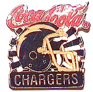 Chargers vintage Coca Cola football pin (Image1)