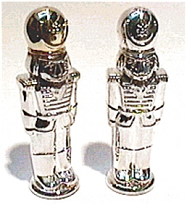 Silver Toy Soldier Salt And Pepper Set