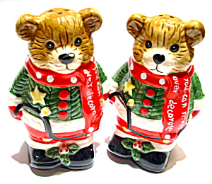 Christmas Bears vintage salt and pepper shakers (Image1)