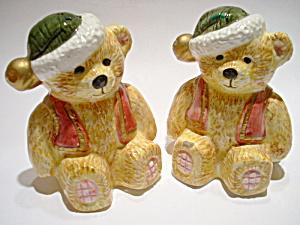Christmas Bears vintage salt and pepper shakers (Image1)