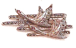 Sterling Silver Marcasite Brooch (Image1)