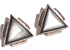Mother Of Pearl Vintage Sterling Silver Post Earrings