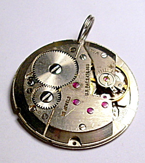 Steampunk antique pocket watch parts necklace pendant (Image1)