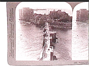 Ancient Citadel In The Sea Stereo View