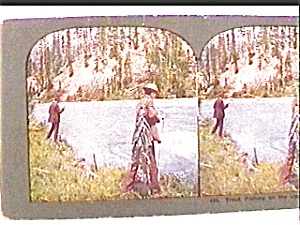 Trout Fishing...Upper Columbia River stereo view (Image1)