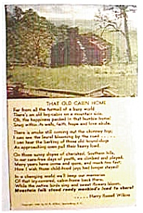 That Old Cabin Home vintage postcard 1946 (Image1)