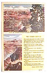 Grand Canyon vintage post card (Image1)