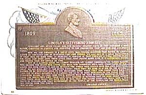 Lincoln's Gettysburg Address vintage post card (Image1)