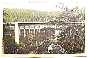 Tallulah Falls Bridge, Ga. vintage post card (Image1)