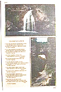 Fantail Falls, S. W. Virginia vintage post card (Image1)