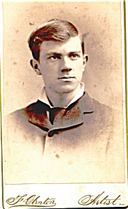 Young Man vintage Carte de Visite photo (Image1)