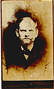 Bearded man vintage Carte de Visite photo (Image1)