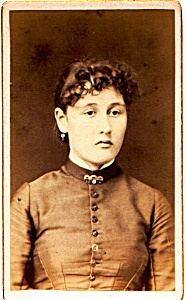 Young Woman vintage Carte de Visite photo (Image1)