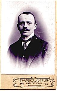 Mustache Man vintage Carte de Visite photo (Image1)