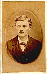 Mustache Man vintage Carte de Visite photo (Image1)
