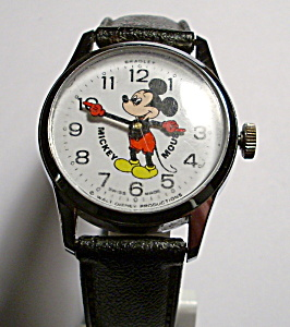 Mickey Mouse vintage Disney mechanical wrist watch (Image1)